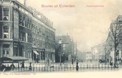 PBK-7660 De Zomerhofstraat en het Zomerhofplein, vanuit het westen, vanaf Rotterdamse Schie.