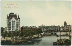 PBK-7898 Het Witte Huis, op de hoek van de Wijnhaven en de Geldersekade.Rechts Plan C en op de voorgrond de Oudehaven.