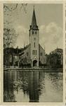 PBK-7991 De Waalse kerk aan de Schiedamse Vest. Op de voorgrond de Schiedamsesingel.