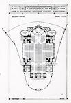 PBK-803 Fotokaart naar een plattegrond van de beganegrond van de Koninginnekerk aan de Boezemsingel.