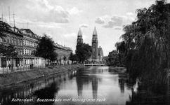 PBK-808 Gezicht op de Boezem, links de Boezemkade op de achtergrond de Koninginnekerk gezien vanuit het zuiden.