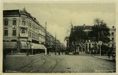 PBK-8080 Oude Binnenweg hoek van de Mauritsweg, vanuit het westen. Rechts het Eendrachtsplein.