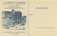 PBK-8273 Het pand van N.V. F. Collée & Co's Hoedenfabriek aan de Kipstraat nummer 97.