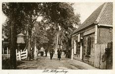 PBK-8284 Het tolhuis aan de Bergweg, uit het zuiden. De tol was op de hoek Bergweg (Straatweg) - Kootsekade. Rechts de ...