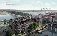 PBK-845 De Hertekade en het Bolwerk met op de achtergrond de spoorbrug over de Nieuwe Maas en de Willemsbrug, vanuit ...