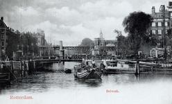 PBK-851 Oudehaven met op de achtergrond de Jan Kuitenbrug en de spoorbrug uit het oosten gezien.