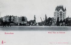 PBK-857 Het Bolwerk en het Witte Huis. Op de voorgrond de Koningsbrug, vanaf het Oudehoofdplein, uit het oosten.
