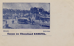 PBK-864 Gezicht op het Bolwerk, het Haringvliet en rechts op het Oudehoofdplein. Op de voorgrond de Koningsbrug, uit ...