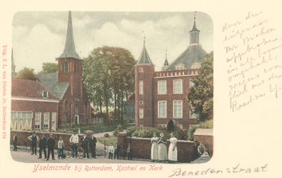 PBK-8742 IJselmonde bij Rotterdam. Kasteel en Kerk aan de Benedenstraat.