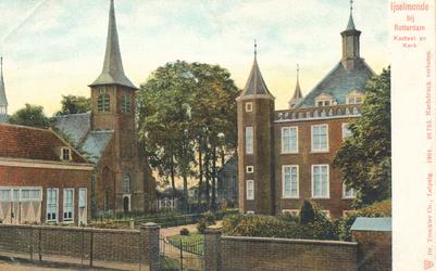 PBK-8745 Ijselmonde bij Rotterdam, Kasteel en Kerk.