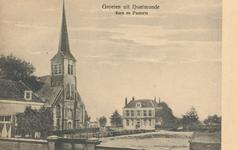 PBK-8747 Groeten uit IJsselmonde, Ned.Herv.Kerk en Pastorie.
