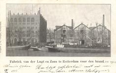 PBK-8821 De fabriek van de stoomhoutzagerij en kuiperij van de firma W. van de Lugt & Zoon aan de Oeverstraat, gezien ...