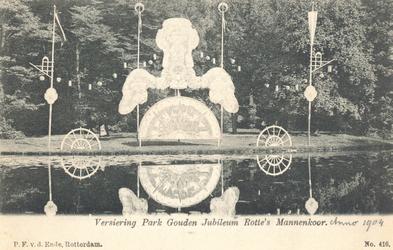 PBK-8846 Versiering Park Gouden Jubileum Rotte's Mannenkoor.