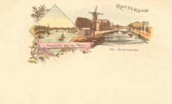 PBK-8858 Rotterdam. De Schiekade. Gezicht op de Maas.