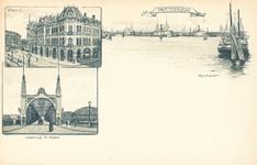 PBK-8863 Rotterdam. Plan C, voetbrug a/d Maas, Rijnhaven.