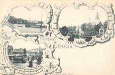 PBK-8868 Souvenir de Rotterdam. Erasmus en de Maasbruggen.