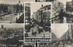 PBK-8887 Oud-Rotterdam. Zicht op de Vier Leeuwenbrug, Kolk, Hoofdsteeg, Jonker Fransstraat en panorama v.a. Witte Huis.
