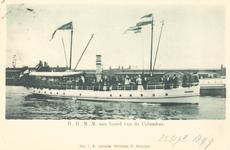 PBK-8960 H.H. M.M. aan boord van de Columbus. Rotterdam.