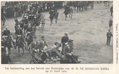 PBK-8989 Ter herinnering aan het bezoek aan Rotterdam van H.M. De Koninging Emma.