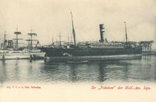PBK-9433 Het passagiersschip Potsdam van de Holland Amerika lijn, in 1901 werd de schoorsteen met 7 meter verlengd.
