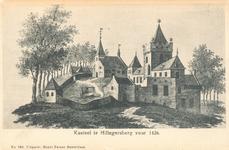 PBK-9634 Gezicht op het kasteel, het zogenaamde Reuzenhuis en de kerk aan de Kerkstraat te Hillegersberg.