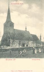 PBK-9652 Gezicht op Nederlandse Hervormde Hillegondakerk aan de Kerkstraat in Hillegersberg.