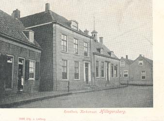 PBK-9743 Het raadhuis aan de Kerkstraat, gezien uit het zuiden.