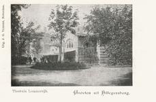 PBK-9881 Theetuin-uitspanning Lommerrijk (voorheen Vrouw Romein) aan de westzijde van de Straatweg te Hillegersberg.
