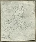 1976-3066 Tegelspons met een voorstelling van een ruiter te paard in wapenuitrusting