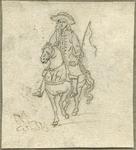 1976-3072 Tegelvoorbeeld met een voorstelling van een ruiter te paard in wapenuitrusting