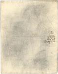 1976-3361 Tegelspons met een voorstelling van de paus, in de hand een staf met pauskruis. Rechts op de altaar twee ...