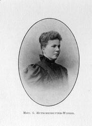M-1269 Portret van Gertrud Pauline Selma Hutschenruyter-Winzer, van 1882 - 1884 harpiste aan de Hoogduitsche Opera te ...