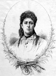 M-1384 Portret van Maria Johanna Kleine-Gartman, toneelspeler. Van 1859 tot 1863 verbonden aan het Rotterdams toneel.