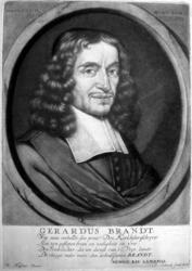 M-229 Portret van Gerardus Brandt, predikant bij de Remonstrantse Broederschap. Schrijver en dichter.