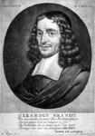 M-230 Portret van Gerardus Brandt, predikant bij de Remonstrantse Broederschap. Schrijver en dichter.