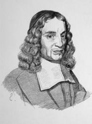 M-238 Portret van Gerardus Brandt, predikant bij de Remonstrantse Broederschap. Schrijver en dichter.