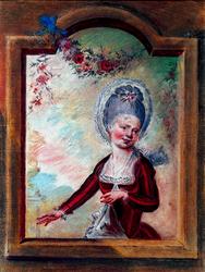M-280 Portret van Maria Elisabeth de Bruyn, toneelspeelster te Rotterdam en directrice van de schouwburg te Rotterdam.