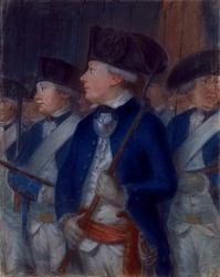 M-2978 Portret van L. van Zwijndrecht, luitenant van de Rotterdamse schutterij bij het oproer in 1784.