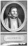 M-443 Portret van Hubert Duifhuis, van 1556 tot 1572 pastoor van de St. Laurenskerk te Rotterdam.