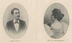 M-476 Links : Portret van Henry Mari Jozef Cornelis Engelen, opera - en concertzanger. Rechts : Portret van Cato ...