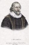 M-492 Portret van Simon Egberts Episcopius, van 1610 tot 1612 predikant te Bleiswijk en van 1626 tot 1634 nauw ...
