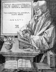 M-493-A Portret van Desiderius Erasmus, humanist.