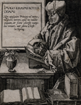 M-495-A Portret van Desiderius Erasmus, humanist.