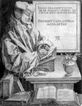 M-496 Portret van Desiderius Erasmus, humanist.