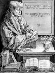 M-497 Portret van Desiderius Erasmus, humanist.
