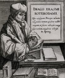 M-498 Portret van Desiderius Erasmus, humanist.