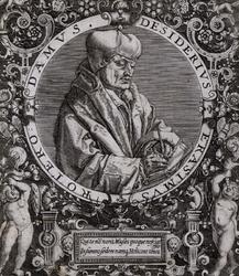 M-499 Portret van Desiderius Erasmus, humanist.