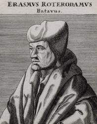 M-502 Portret van Desiderius Erasmus, humanist.