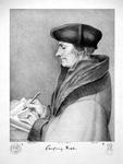 M-506 Portret van Desiderius Erasmus, humanist.