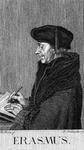 M-507 Portret van Desiderius Erasmus, humanist.